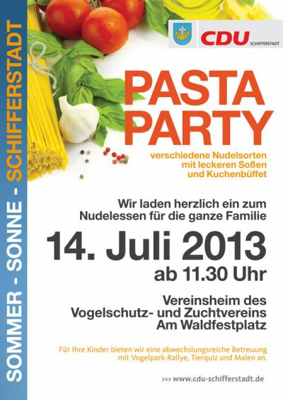 14.07.2013: Pasta-Party im Vogelpark - 14.07.2013: Pasta-Party im Vogelpark